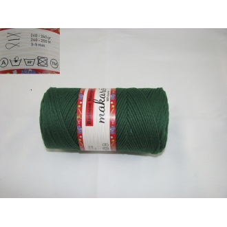 Bavlnené Macrame-Makarony 250g-tmavo zelená