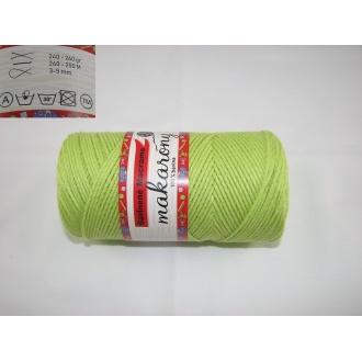 Bavlnené Macrame-Makarony 250g-svetlo zelená