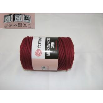 YarnArt Macrame cord 3mm,250g-781 bordová