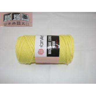 YarnArt Macrame cord 3mm,250g- 754 žltá