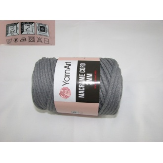 YarnArt Macrame cord 3mm,250g- 774 šedá