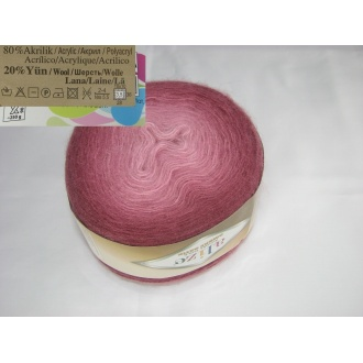 Alize - Angora gold ombre batik - 7247 ružový