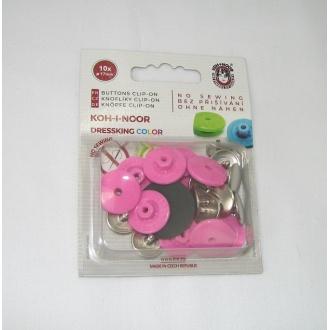 Gombík zapínací dressking ružový
