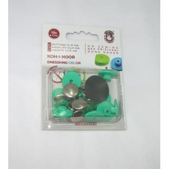 Gombík zapínací dressking tyrkysová zelená