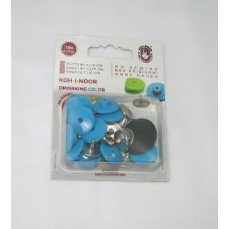 Gombík zapínací dressking modro tyrkys