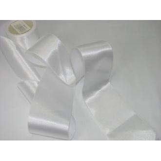 Stuha saténová  šírka 50mm biela
