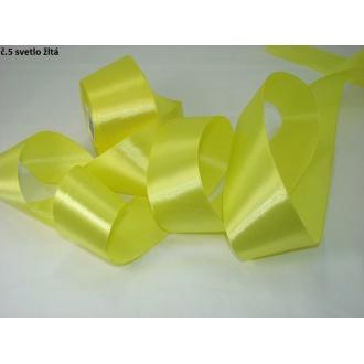 Stuha saténová  šírka 50mm -svetlo žltá
