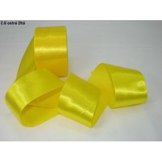 Stuha saténová  šírka 50mm - ostrá žltá