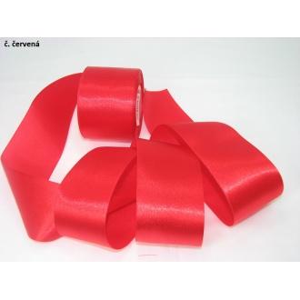 Stuha saténová  šírka 50mm - červená