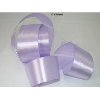 Stuha saténová  šírka 50mm - svetlo fialová
