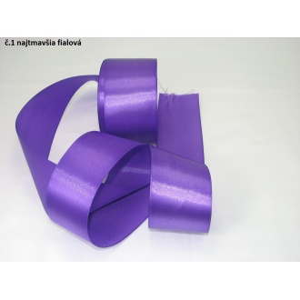 Stuha saténová  šírka 50mm - fialová