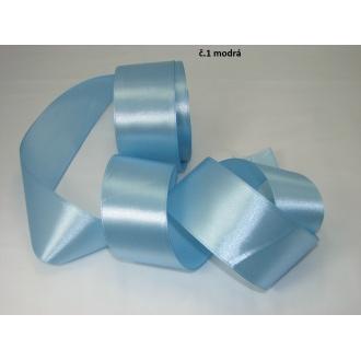 Stuha saténová  šírka 50mm - modrá