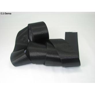 Stuha saténová  šírka 50mm - čierna