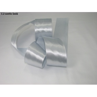 Stuha saténová  šírka 50mm - svetlo šedá