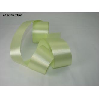 Stuha saténová  šírka 50mm - svetlo zelená
