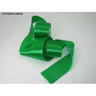 Stuha saténová  šírka 50mm - trávovo zelená