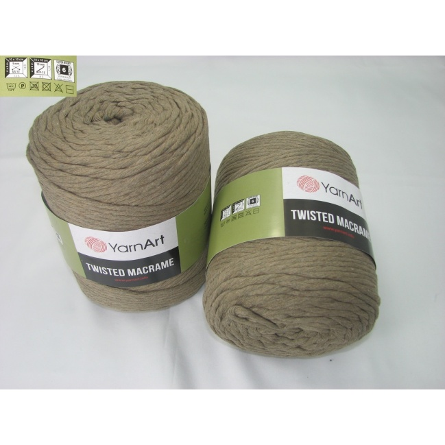 YarnArt Twisted Macrame 500g 768 hnedo khaki