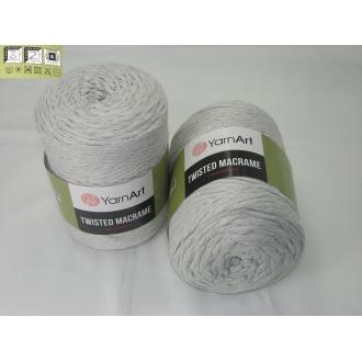 YarnArt Twisted Macrame 500g 756 svetlo šedá