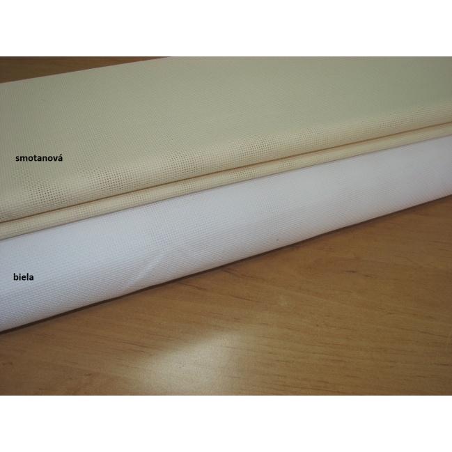 Kanava č.5 š.140cm biela