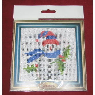 Obraz detský na vyšívanie 14x14 snehuliak