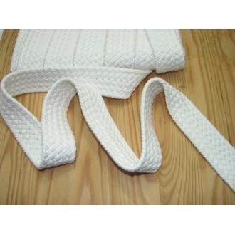 Bavlnený popruh 3,7cm biely