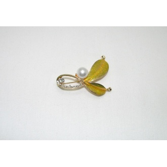 Brošňa perla - 1ks