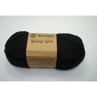 Melange Wool100g - K940 čierna