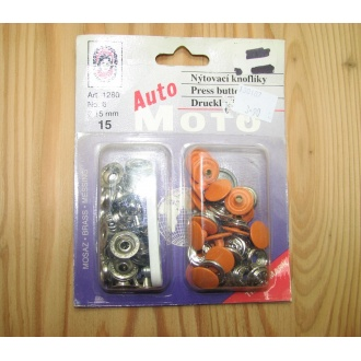 Nitovacie gombíky Auto moto - 15mm