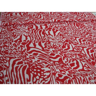 Červeno biela abstrakt