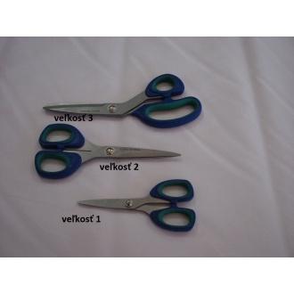 Nožnice univerzálne veľkosť č.3 modro tyrkysová