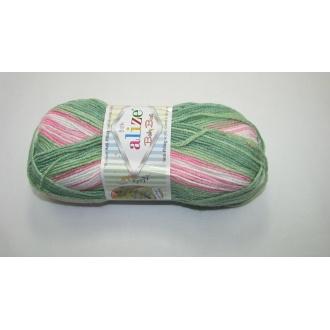 Alize Baby Best batik 100g - 7067 melír zelenoružový