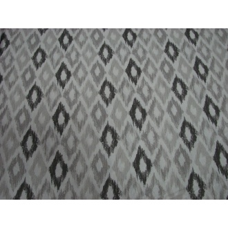 Dekoračná bavlna,sivá potlač