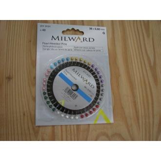 Špendlík Milward so sklenenou hlavičkou