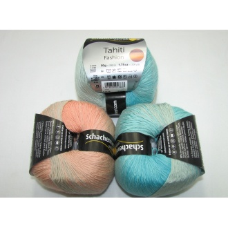 Tahiti Fashion 50g - 7626 oranžovo tyrkysová