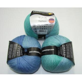 Tahiti Fashion 50g - 7652 modro tyrkysová