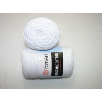 YarnArt Macrame cotton 250g - 751 biela