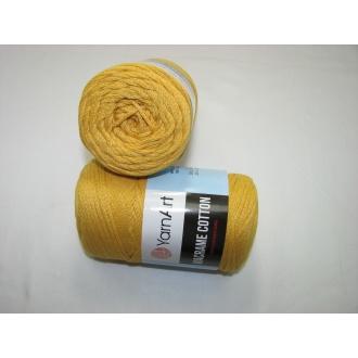 YarnArt Macrame cotton 250g - 764 tmavo žltá