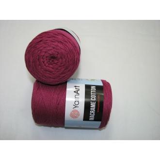 YarnArt Macrame cotton 250g - 777 cviklová