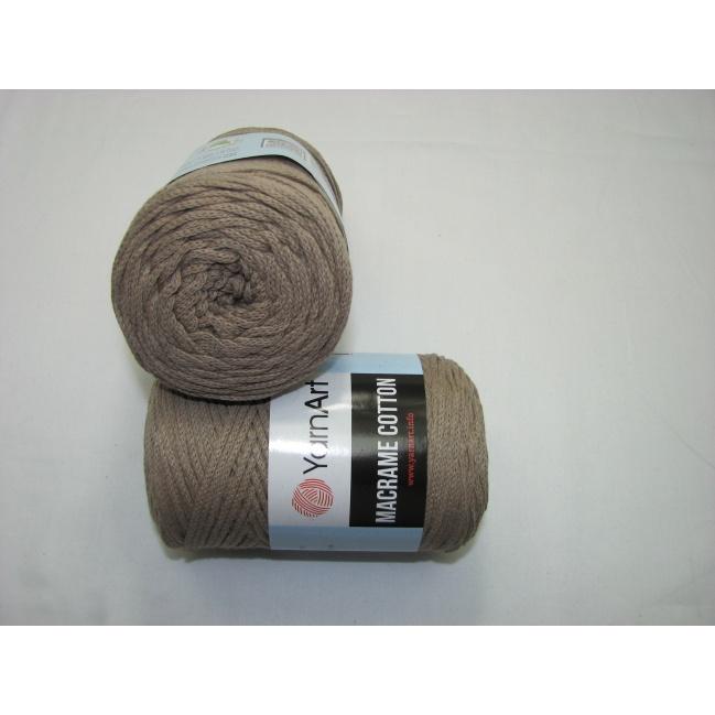 YarnArt Macrame cotton 250g - 786 béž.hnedá