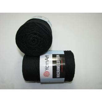 YarnArt Macrame cotton 250g - 750 čierna