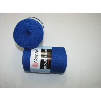 YarnArt Macrame cotton 250g - 772 modrá