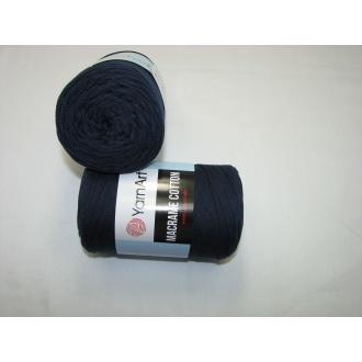 YarnArt Macrame cotton 250g - 784 tmavo modrá