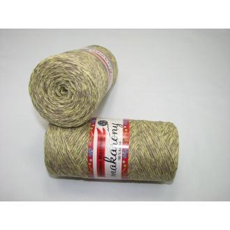 Bavlnené Macrame-Makarony 250g-1120melír žlto béžový