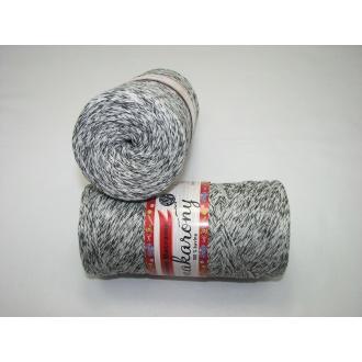 Bavlnené Macrame-Makarony 250g- 1220 bielo čierna