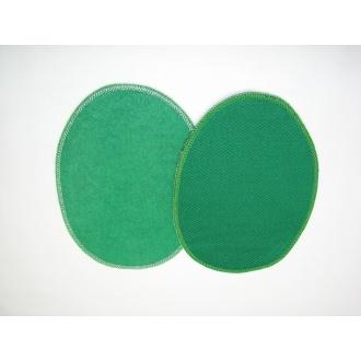 Nažehľovacie záplaty jersey-úplet zelená