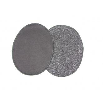 Nažehľovacie záplaty jersey-úplet tmavo šedá