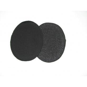 Nažehľovacie záplaty jersey-úplet čierna