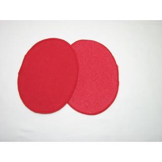 Nažehľovacie záplaty jersey-úplet červená