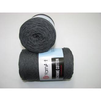 YarnArt Macrame cotton 250g - 758 tmavo šedá