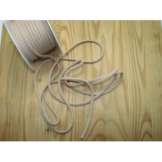 Šnúra bavlna odevná,Ø 5,3mm, béžová